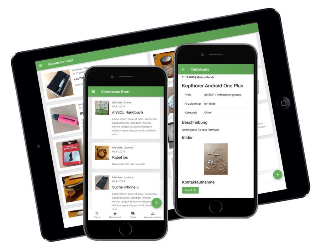 MItarbeiter-App: Schwarzes Brett