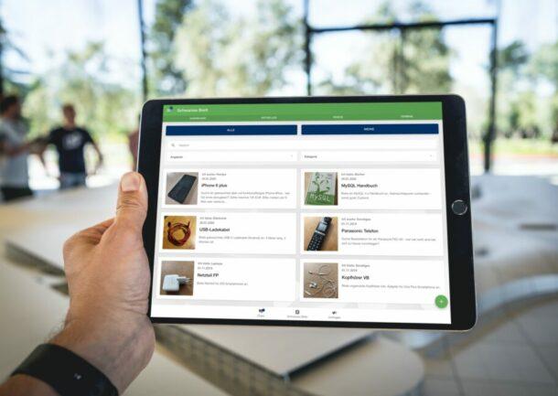 Mitarbeiter App - mobiles Intranet für Ihr Unternehmen mit schwarzem Brett