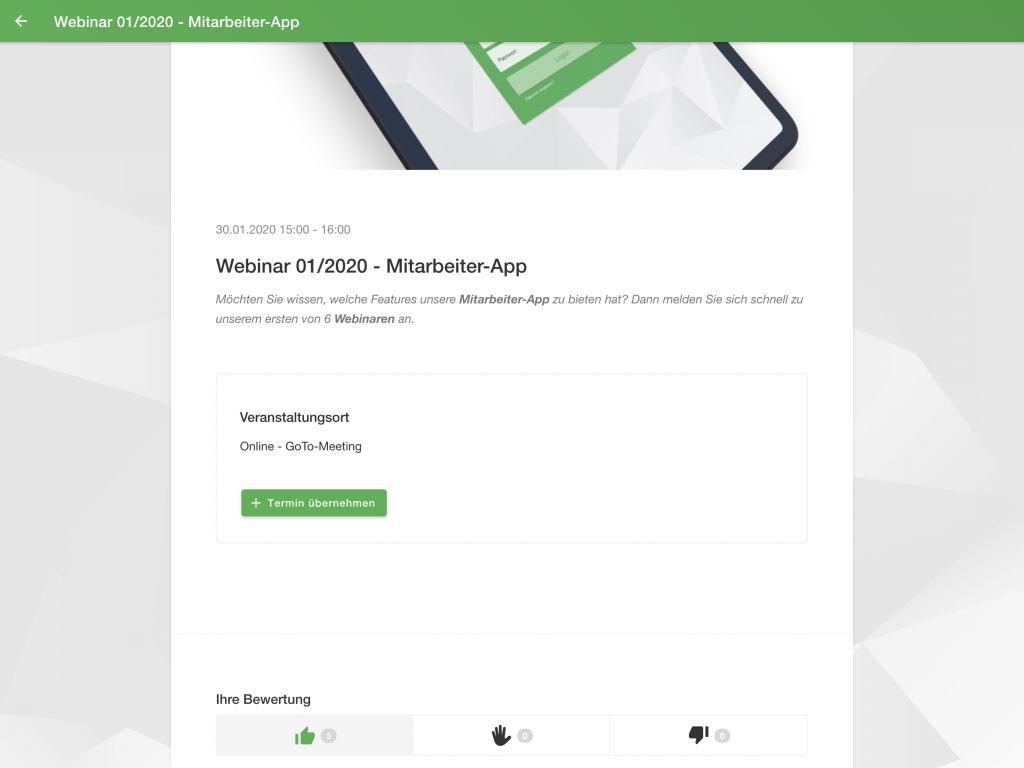 Mitarbeiter App: Bewertung
