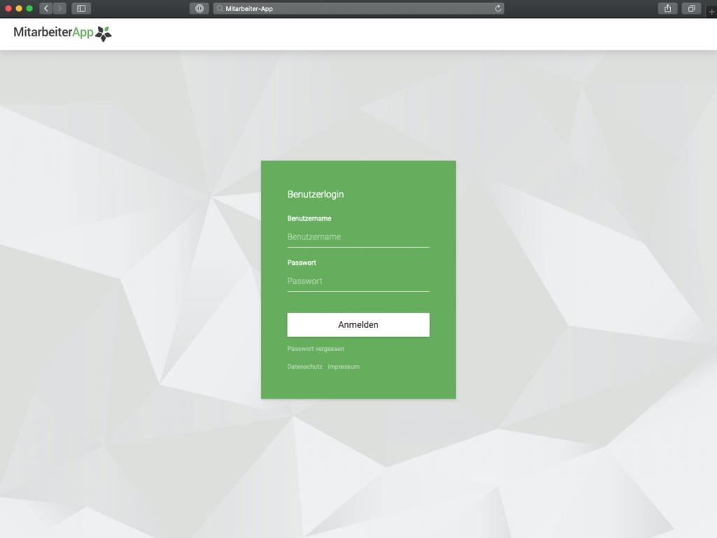 Mitarbeiter App: WebView