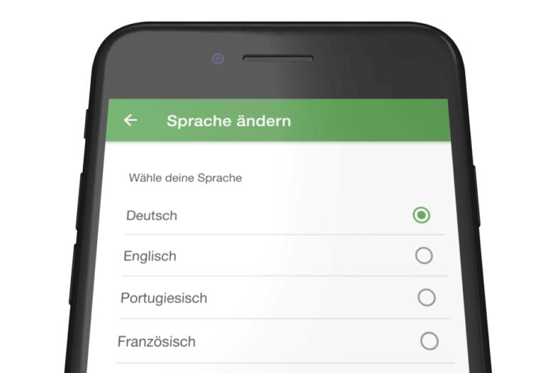 Mitarbeiter App: Mehrsprachigkeit