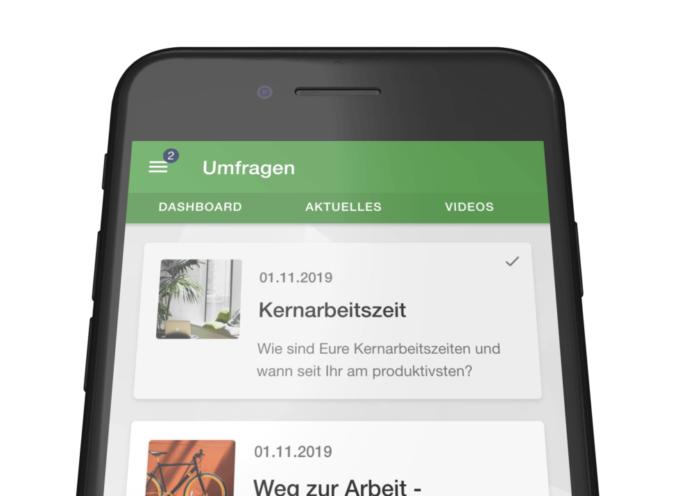 Mitarbeiter App: Umfragen