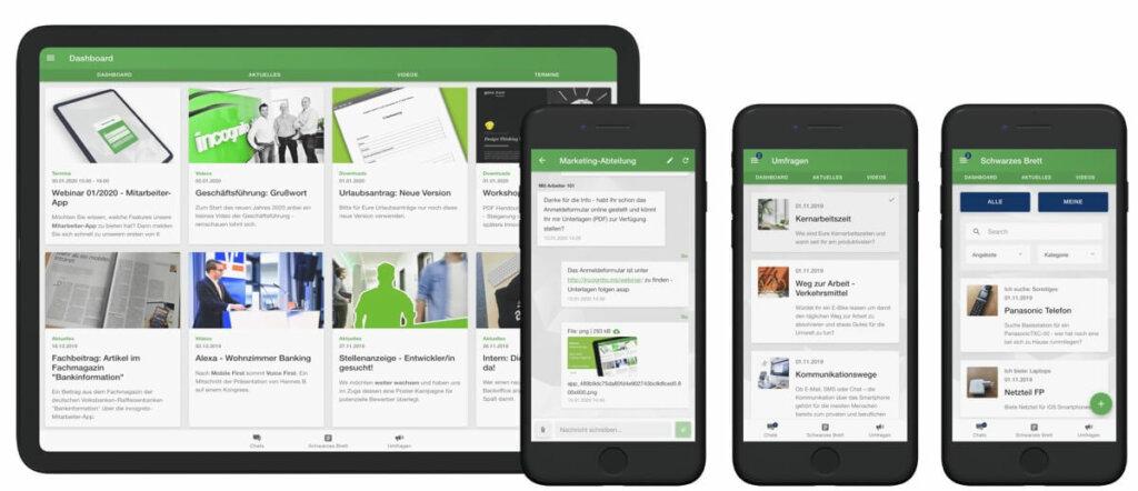 Mitarbeiter App - mobiles Intranet für Ihr Unternehmen